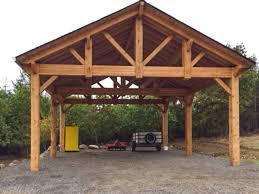 cedar timber frame pavilion car port
