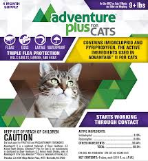 imidacloprid for cats. Perfect Cats Adventure Plus For Cats 4 Pk Over 9 Lbs  Item  42141  In Imidacloprid For R