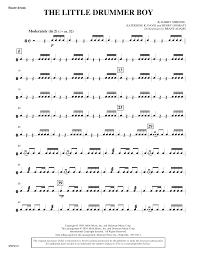 Our arrangements for the little drummer boy can be seen below. The Little Drummer Boy Snare Drum Sheet Music Harry Simeone Choir Instrumental Pak
