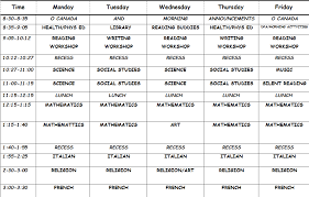 Daily Time Table Daily Timetable Magdalene Project Org
