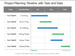 Project Planning Timeline Project Planning Timeline With Task And Date Ppt Powerpoint