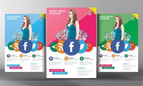 social media marketing flyer template photos graphics fonts social media flyer template