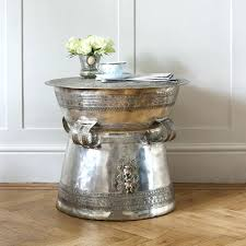 nice silver side table with antique coffee mad about the house metal uk