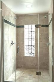 glass block window in shower bathroom eclectic with none windows replacement cost