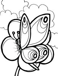 Coloring Pages Of Flowers And Butterflies Coloring Pages Flowers And