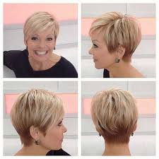 cute and elegant pixie hairstyle for older women