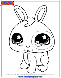 Littlest Pet Shop Cute Bunny Coloring Page H M Coloring Pages