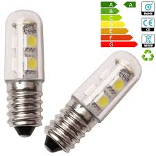 refrigerator light bulb. 2 x e14 1w mini led light bulb for cabinet refrigerator lamp cool white 220v