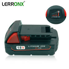 18v 2000mah li ion replacement power tool battery for milwaukee xc 48 11 1815 usb source