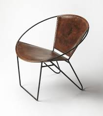 nice round accent chair chairs round industrial modern iron and leather accent chair iron