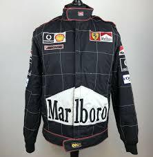 Rare F1 Michael Schumacher Ferrari Marlboro Black Pit Stop Jacket Men S Size L Sportscards Com