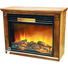 image of electric infrared fireplace heaters