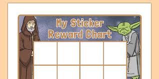 Star Wars Behavior Chart Space Wars Themed Sticker Reward Chart Space Wars Star