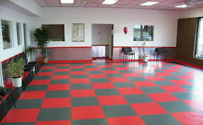 office tile flooring. Large Office: Diamondtrax (Racing Red, Slate Grey) Office Tile Flooring