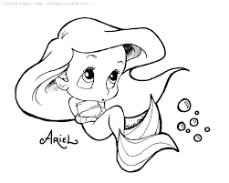 The Ariel Putting A Crown1 At Mermaid Coloring Pages Printable