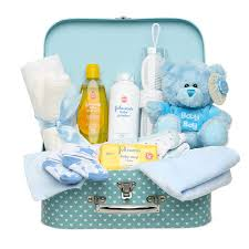 Designer Newborn Baby Gifts Newborn Baby Gift Set Keepsake Box In Blue With Baby Clothes Teddy Bear And Gifts For A New Baby Boy