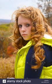 Redhead teen beauty solo