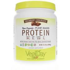 <b>Raw Organic Plant</b>-Based <b>Protein</b>, VegiDay