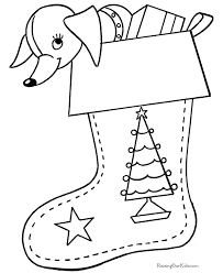 Small Picture Printable Christmas Stocking Coloring Pages 003