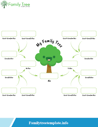 4 Free Blank Printable Family Tree Template For Kids Pdf