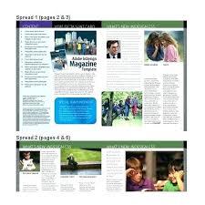 Magazines Layouts Ideas Minimal Creative Magazine Template Article Word Free Print