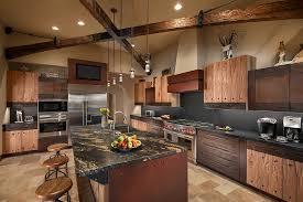 Extraordinary Open Kitchen Designs Luxury Rustic Kitchen Interior