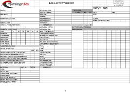 anti corrosion dailyactivity report