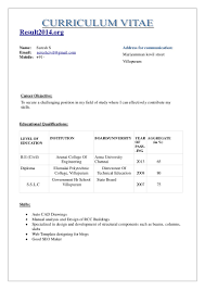 Achievements In Resume Examples For Freshers New Format 2017