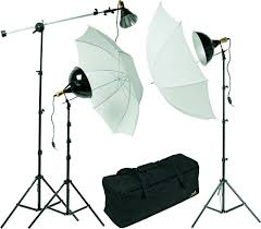 lighting set. for a fullyequipped home studio this threelight setup would lighting set