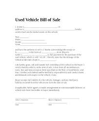 Template Bill Of Sale Used Car Download Them Or Print