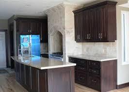 dark kitchen cabinets and white appliances romantic bedroom ideas