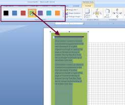 ms word 2007 word 2010 sidebar text box 4 color
