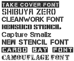 Number Stencil Font Stencil Army Fonts Download Top 40 Fonts4free