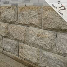 mushroom natural split surface g682 yellow rusty granite stone wall cladding tiles split