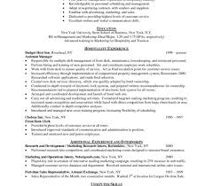 Management In The Hospitality Industry Resume Format Hotel Bgvxczy