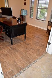 Carpet For Kitchen Floor Replace Carpet With Tile That Looks Like Wood Planks We Used A