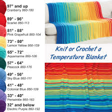 Knit Or Crochet A Temperature Blanket Free Printable Chart