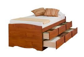 Prepac Bedroom Furniture Prepac Monterey Cherry Tall Twin Platform 6 Drawers Storage Bed