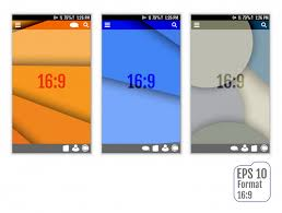 Abstract User Interface Templates Vector Premium Download