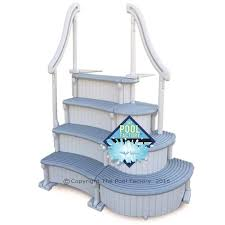 Confer Curve Deluxe Above Ground Pool Steps