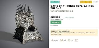 life size iron throne game of thrones iron throne full size replica on sale for 20 000