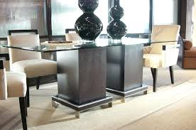 elegant glass top pedestal dining table double pedestal dining table with tampered glass top glass top