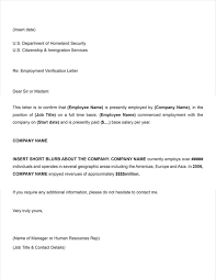 Sample Employment Verification Letter For Us Visa Letter Template