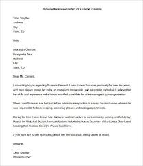 Pattern Of Reference Letter Pin By Template On Template Personal Reference Letter