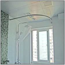 corner shower curtain rod ikea l shaped curtain rod curtain home decorating ideas hash l shaped