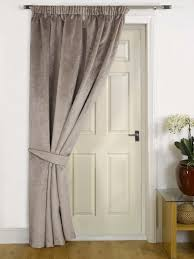 mink thermal door curtain faux velvet fabric reduces heat loss prevents draughts saves energy co uk kitchen home