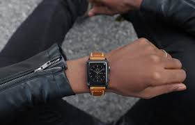 your new apple watch series 4 deserves a serious leather strap