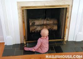 The New Mama Diaries Baby Proofing A Raised Brick HearthBaby Proof Fireplace