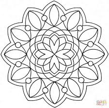 Small Picture Flower Mandala coloring page Free Printable Coloring Pages