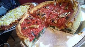 giordano s mushroom and spinach pizza pie